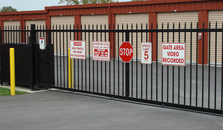 New market self storage secured gate access
