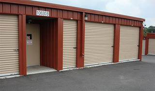 Self storage unit exterior in new market