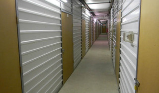 Self storage hallway in alexandria