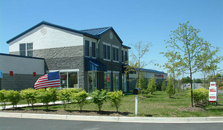 Self storage office exterior in sterling