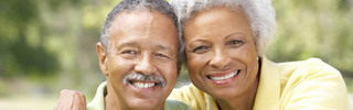 Senior living couple at milestone