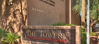 Courtyard Towers senior community sign