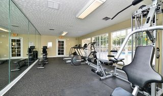 Fitness center inside Miami apartments