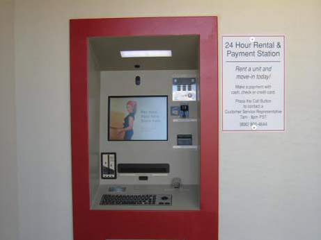 24hour rent pay kiosk at our Phoenix self storage facility