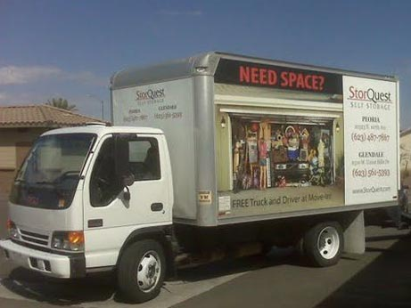 Our moving truck serving the Desert Ridge neighborhood in Phoenix, AZ