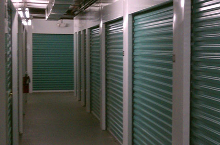 New smyrna beach self storage hallway