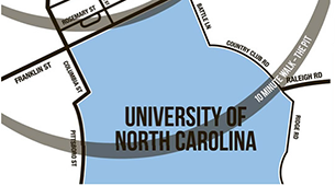 Learn more about the location at University Apartments - Durham