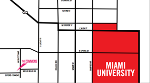 Learn more about the location at Oxford & Miami Commons