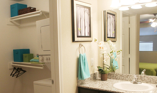 Bathroom and laundry room