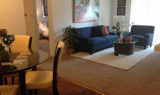 Dining living room at hazelwood apartments