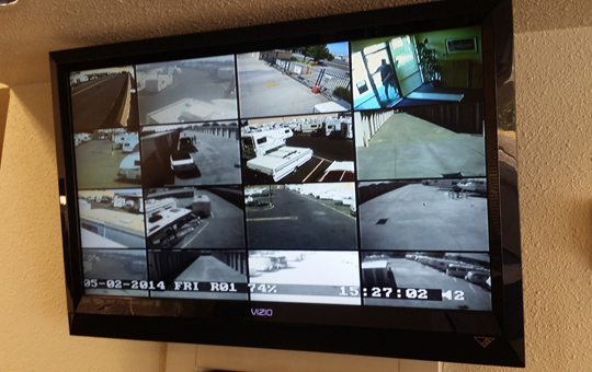 Security monitor at Elk Grove self storage