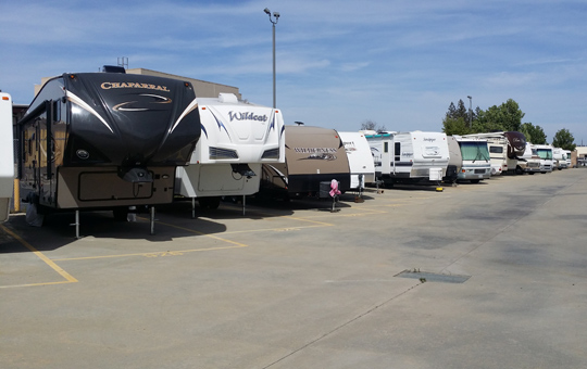 Self storage in Elk Grove has RV parking