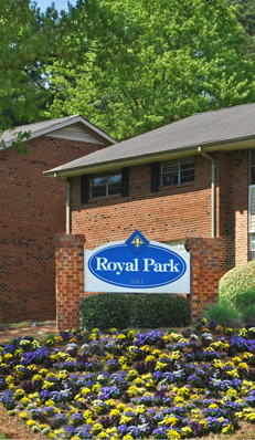 Royal Park apartments in Carrboro have great amenities.