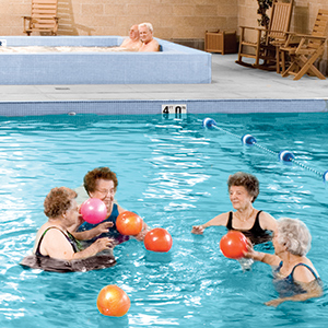 Our resident's stay active and healthy by using our Health & Fitness center