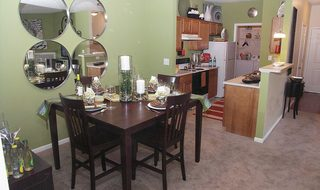 Dining room inside apartments in Centerville