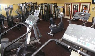 Fitness center at Centerville apartments
