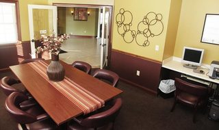 Inside the clubhouse at apartments in Centerville
