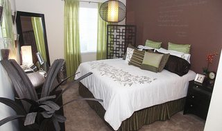 Modern bedroom at our Centerville apartments