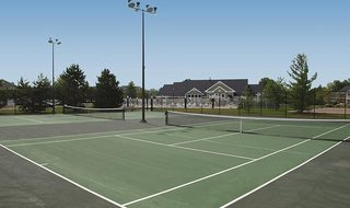 Tennis courts at Centerville apartments