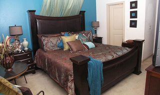 Pearland Texas apartments bedroom interior