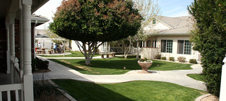 Landscaped courtyard in mesa