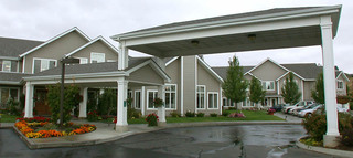 Covered drive through at pullman senior living