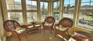 Lounge area at senior living anacortes