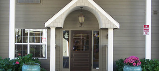 Senior living entrance in the dalles