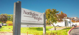 Northglenn heights senior living sign