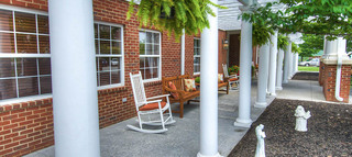 Roanoke senior living patio