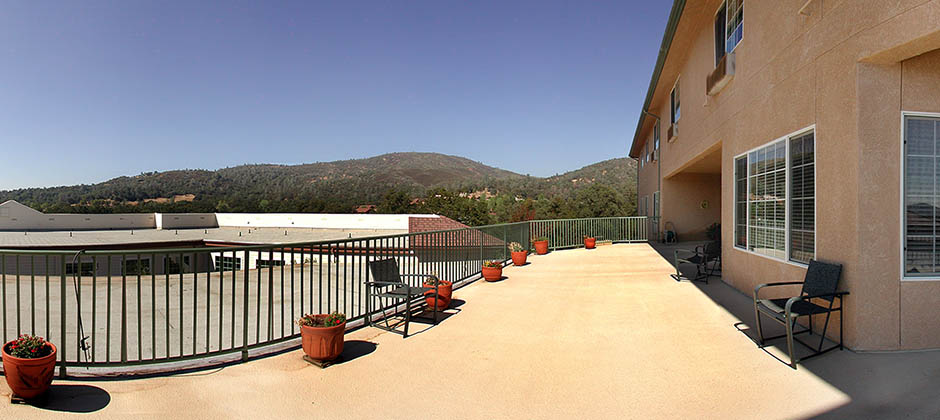 Back patio at sonora senior living