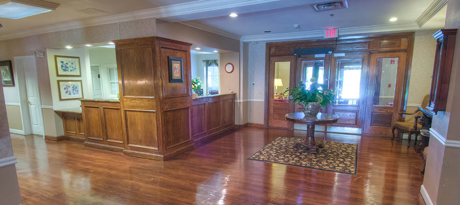 Community lobby at oklahoma city senior living
