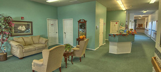 Lobby at blackfoot senior living community