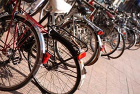 Bike racks near Mustang apartments