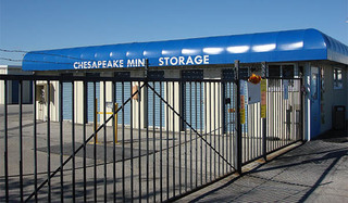 Self storage security gate in baltimore
