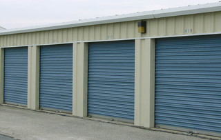 Secured baltimore self storage unit exterior