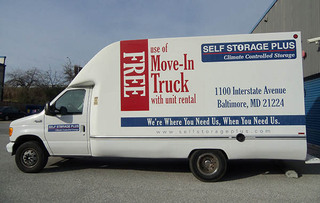 Secured self storage moving truck in baltimore