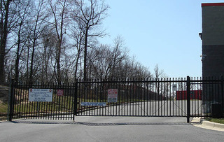 Laurel self storage facility security gate