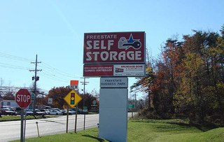 Self storage facility sign in laurel