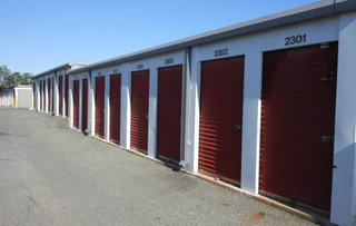 Rockville self storage unit exterior