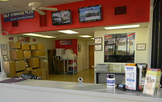 Self storage office interior in alexandria