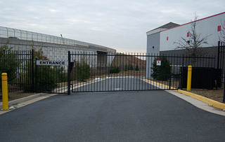 Manassas self storage security gate