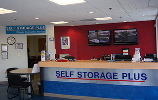 Self storage office interior in manassas