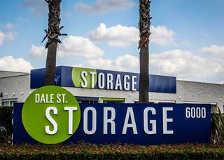 Front of buena park self storage units