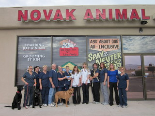 Novak animal care staff