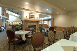 Community dining area at vancouver senior living