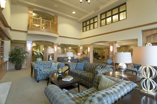 Couches and lounge area at vancouver senior living