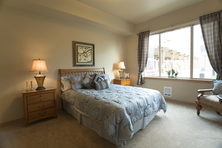 Large master bedroom at vancouver senior living