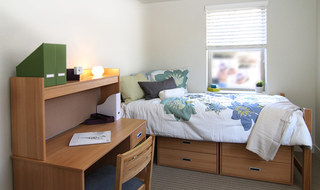 Bedroom inside Provo student apartments