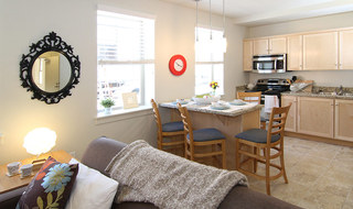 Dining area at Provo Utah student apartments
